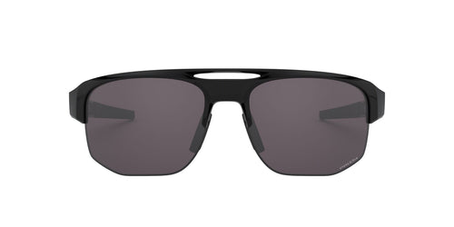 Oakley - Mercenary Polished Black/Prizm Gray Wrap Men Polarized Sunglasses - 70mm