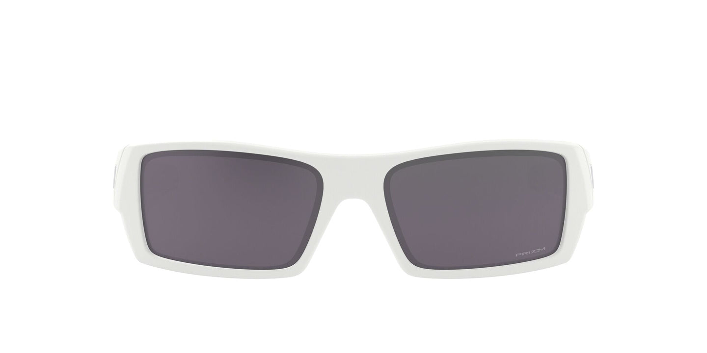 Oakley Gascan White / Black Lens Mirror Sunglasses
