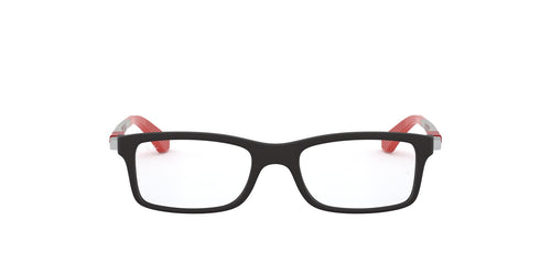 Ray Ban Rx - RB1588 Black Rectangular Women Eyeglasses - 47mm