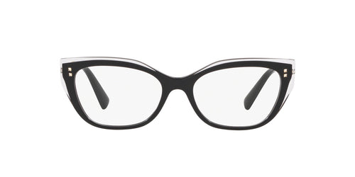 Valentino - VA3035 Crystal/Black Cat Eye Women Eyeglasses - 54mm