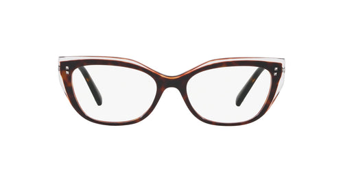 Valentino - VA3035 Crystal / Havana Cat Eye Women Eyeglasses - 54mm