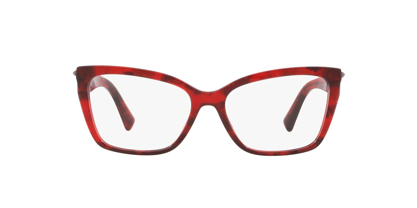 Valentino - VA3032 Red Havana Cat Eye Women Eyeglasses - 53mm