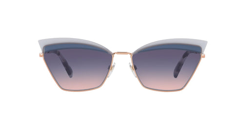 Valentino VA2029 Rose Gold / Blue Lens Sunglasses