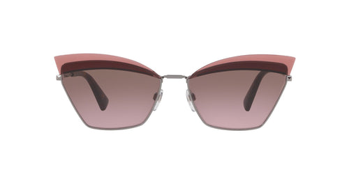 Valentino VA2029 Gunmetal / Brown Lens Sunglasses