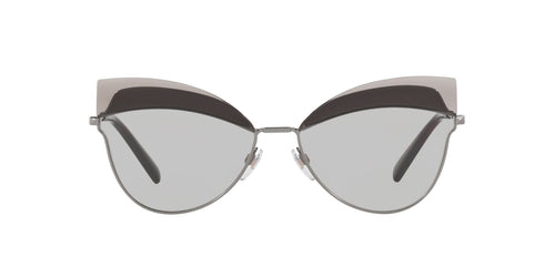 Valentino - VA2030 Gunmetal Round Women Sunglasses - 60mm