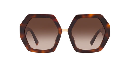 Valentino 0VA4053 Havana / Brown Lens Sunglasses