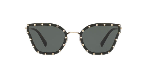 Valentino VA2028 Gold / Green Lens Sunglasses