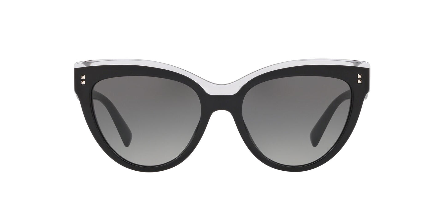 Valentino - VA4034 Black Cat-Eye Women Sunglasses - 54mm