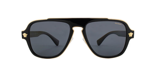 Versace VE2199 Black / Gray Lens Solid Polarized Sunglasses