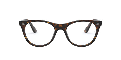 Ray Ban Rx - RB2185V Havana Square Unisex Eyeglasses - 52mm