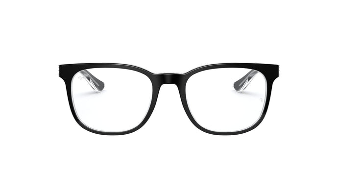 Ray Ban Rx - RB5369 Black Square Unisex Eyeglasses - 52mm