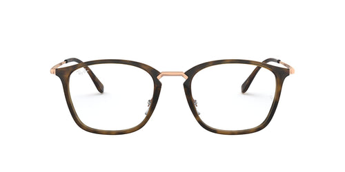 Ray Ban Rx - RB7164 Havana Square Unisex Eyeglasses - 52mm
