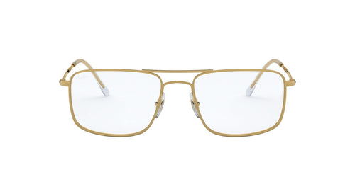 Ray Ban Rx - RB6434 Gold Rectangular Men Eyeglasses - 55mm