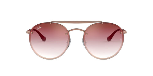 Ray Ban - RB3614N Copper/Bordeux Gradient Round Women Sunglasses - 54mm