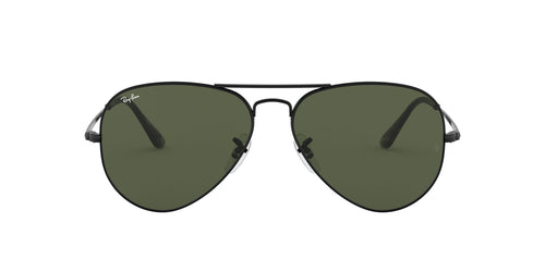 Ray Ban - RB3689 Black/Green Aviator Unisex Sunglasses - 58mm