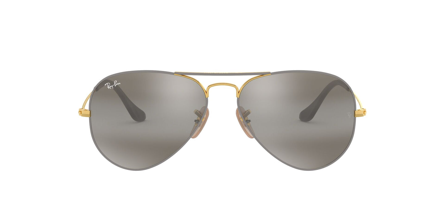 Ray Ban - RB3025 Gray Aviator Men Sunglasses - 58mm