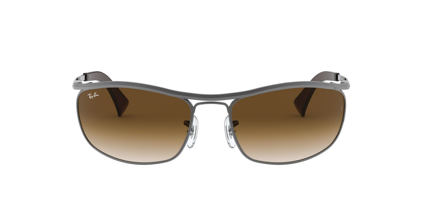 Ray Ban - Olympian Gunmetal/Brown  Gradient Wrap Men Sunglasses - 62mm