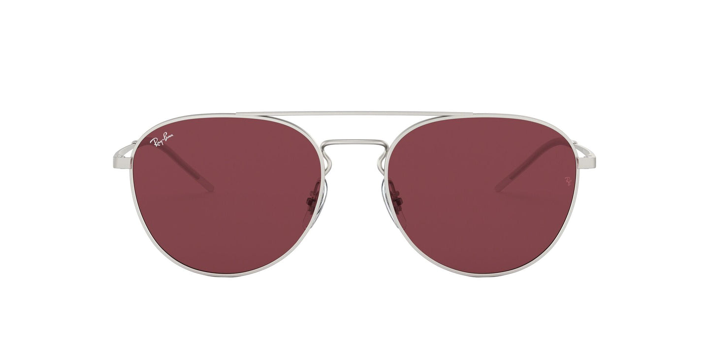 Ray Ban - RB3589 Silver/Violet Square Women Sunglasses - 55mm