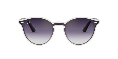 Ray Ban - RB4380N White/Blue Gradient Round Unisex Sunglasses - 37mm