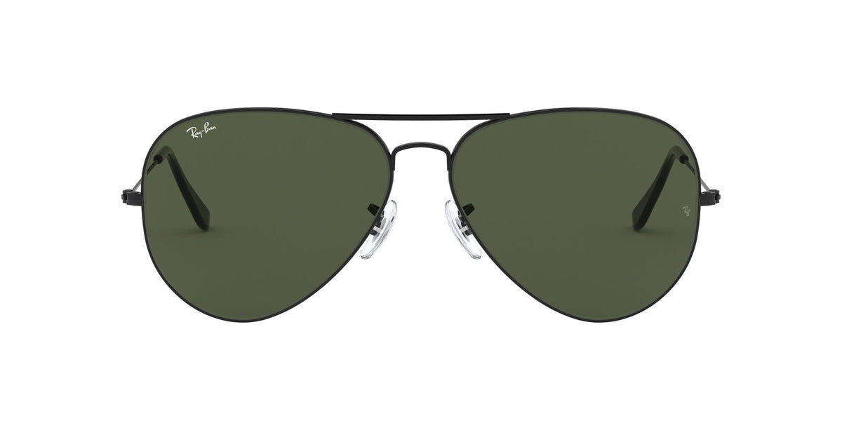 Ray Ban - Aviator Large Metal II Black/Green Unisex Sunglasses - 62mm