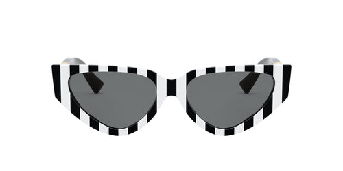 Valentino 0VA4063 Stripes with Black / Smoke Lens Sunglasses