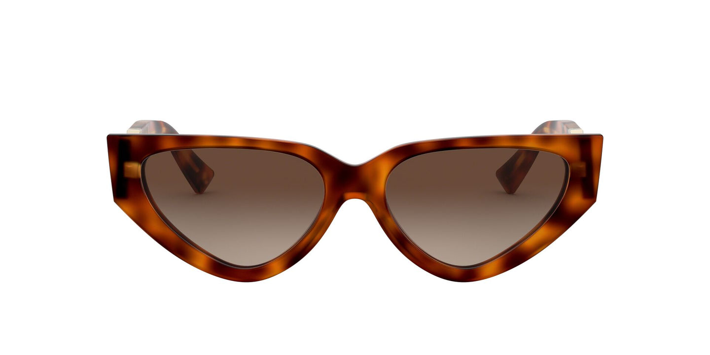 Valentino - VA4063 Light Havana Rectangular Women Sunglasses - 54mm