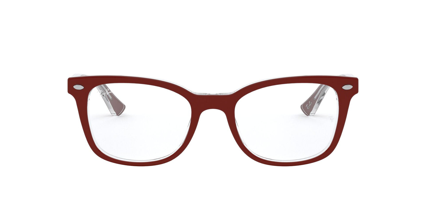 Ray Ban Rx - RX5285 Top Bordeaux On Trasparent Square Women Eyeglasses - 53mm