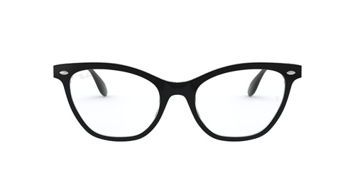 Ray Ban Rx - RX5360 Top Black On Transparent Cat Eye Women Eyeglasses - 52mm