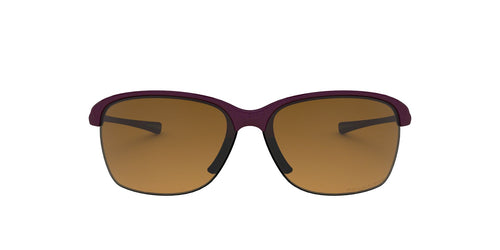 Oakley - Unstoppable Raspberry Spritzer/Brown Rectangle Women Sunglasses - 65mm
