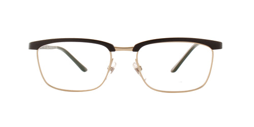 Starck - SH3039 Matte Light Gold Black Square Men Eyeglasses - 53mm