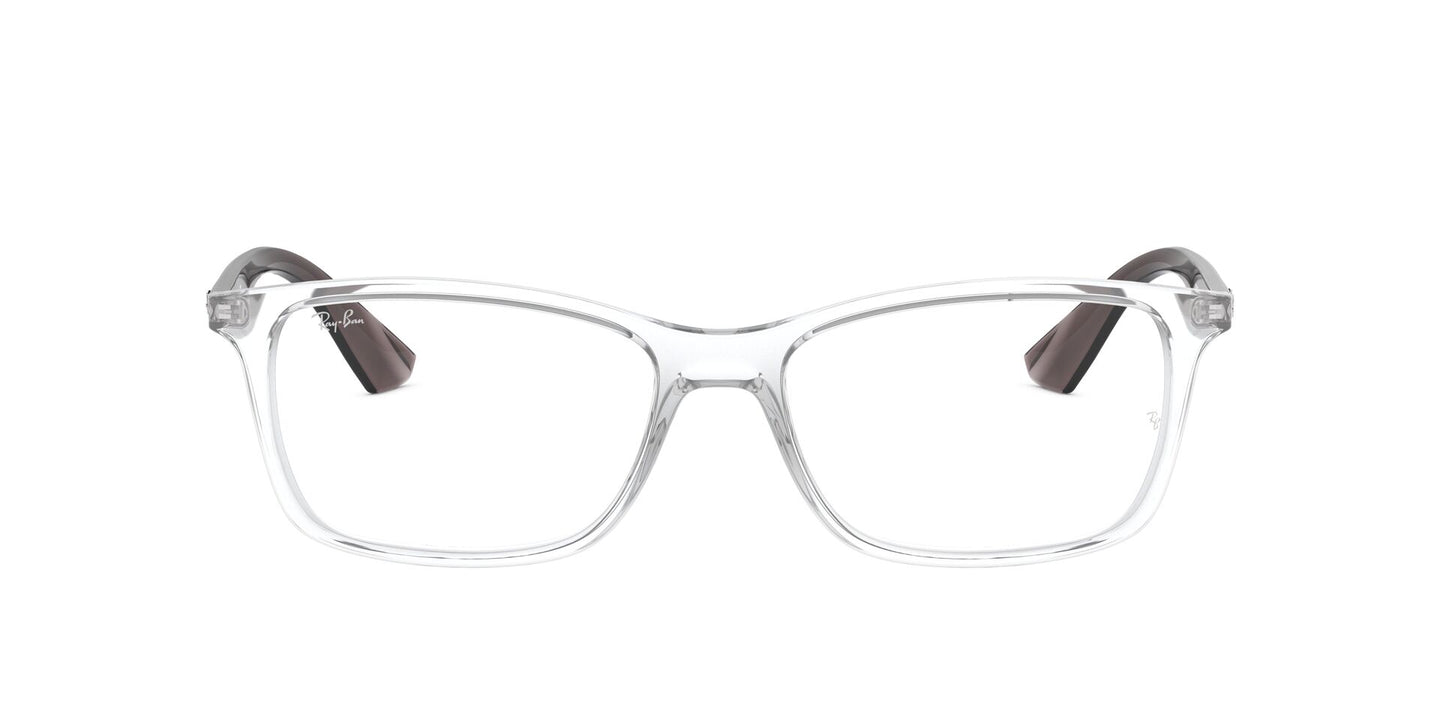 Ray Ban Rx - RX7047 Trasparent Rectangle Men Eyeglasses - 56mm