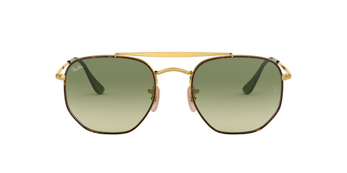 Ray Ban - RB3648 Havana/Green Gradient Square Unisex Sunglasses - 51mm