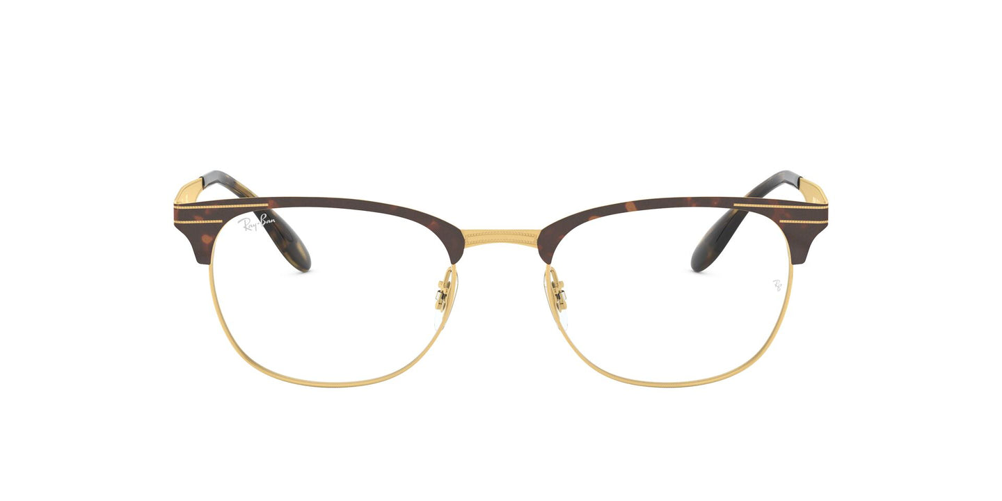 Ray Ban Rx - RX6346 Gold Square Unisex Eyeglasses - 52mm