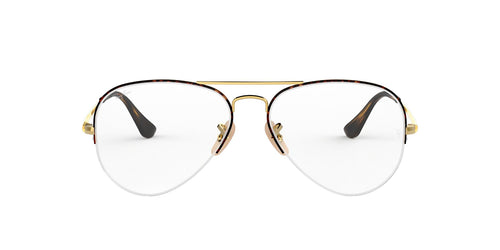 Ray Ban Rx - RX6589 Gold Pilot Unisex Eyeglasses - 56mm