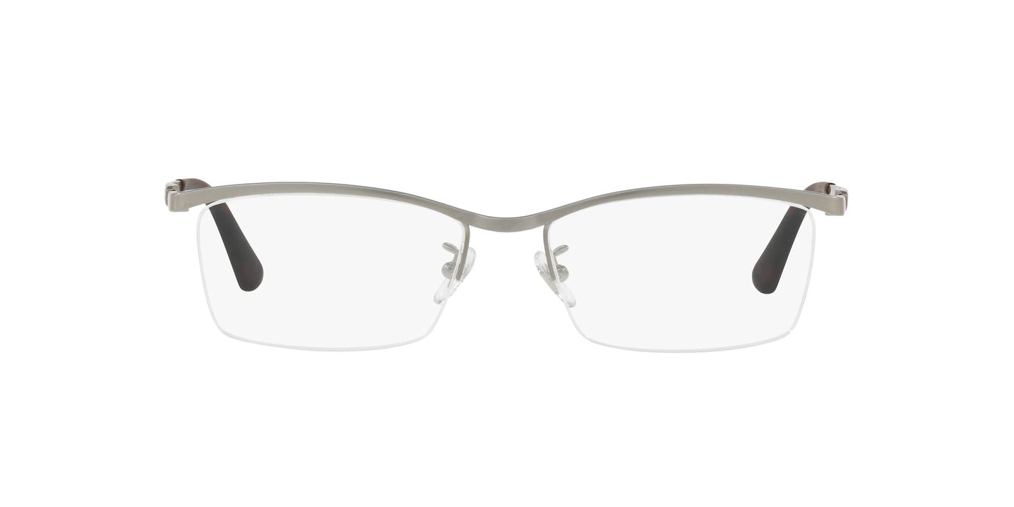 Ray Ban Rx - RX8746D Brushed Rectangle Men Eyeglasses - 55mm