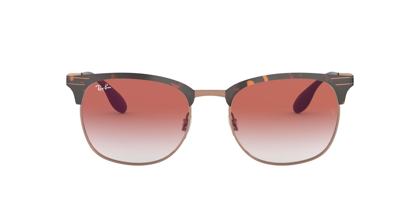 Ray Ban - RB3538 Havana/Red Mirror Square Unisex Sunglasses - 53mm