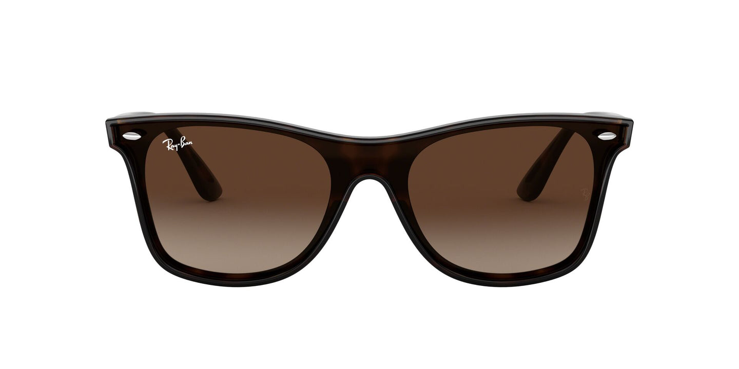 Ray Ban - RB4440NF Light Havana/Brown  Gradient Round Unisex Sunglasses - 44mm