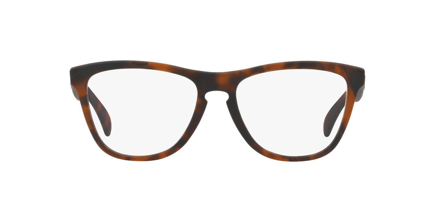 Oakley - RX Frogskins Brown Tortoise/Clear Square Unisex Eyeglasses - 54mm