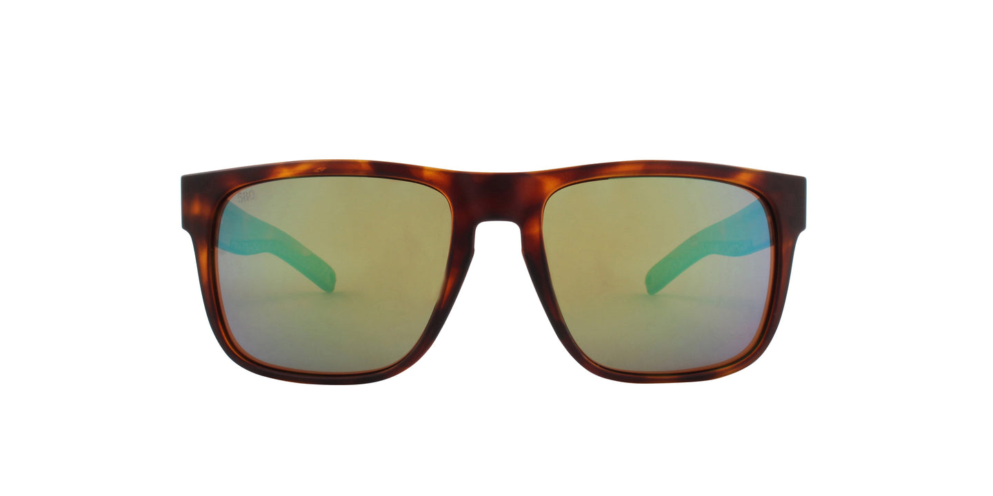 Costa Del Mar - Spearo Tortoise/Yellow Mirror Polarized Square Unisex Sunglasses - 56.1mm