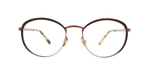 Mykita - Beulah Shiny Copper Black/Clear Round Women Eyeglasses - 49mm