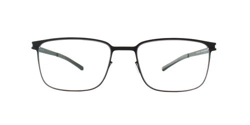 Mykita - BUD Black/Clear Rectangular Men Eyeglasses - 57mm
