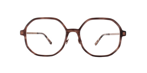 Mykita - Hilla Purple Bronze/Clear Round Women Eyeglasses - 52mm