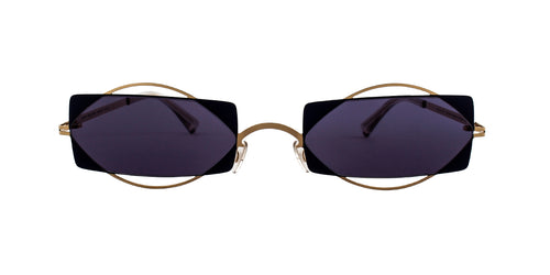 Mykita - Charlotte Gold/Blue Rectangular Unisex Sunglasses - 54mm