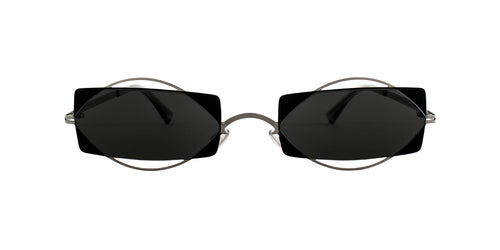Mykita - Charlotte Silver/Gray Rectangular Unisex Sunglasses - 54mm