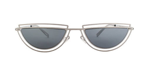 Mykita - Monogram Silver/Silver Mirror Oval Unisex Sunglasses - 51mm