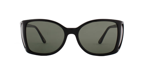 Persol - PO0005 Black/Green Square Women Sunglasses - 54mm