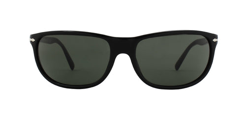 Persol PO3222S Black / Green Lens Sunglasses