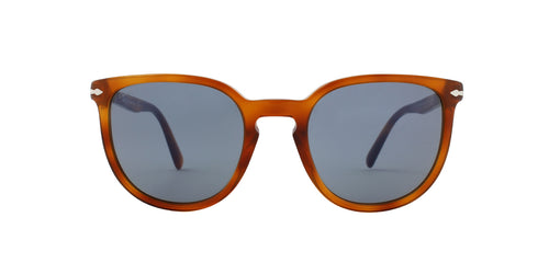Persol PO3226S Tierra Di Siena / Light Blue Lens Mirror Sunglasses