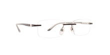 Starck - SH2043 Matte Black/Clear Rectangular Men Eyeglasses - 55mm