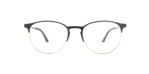 Ray Ban Rx - RX6375 Gold Top in Black Square Unisex Eyeglasses - 51mm